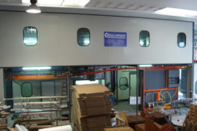 Automatic two floors two-rail conveyor